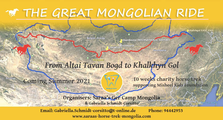 The Great Mongolian Ride 2020 | The longest charity horse ride in the world | Map