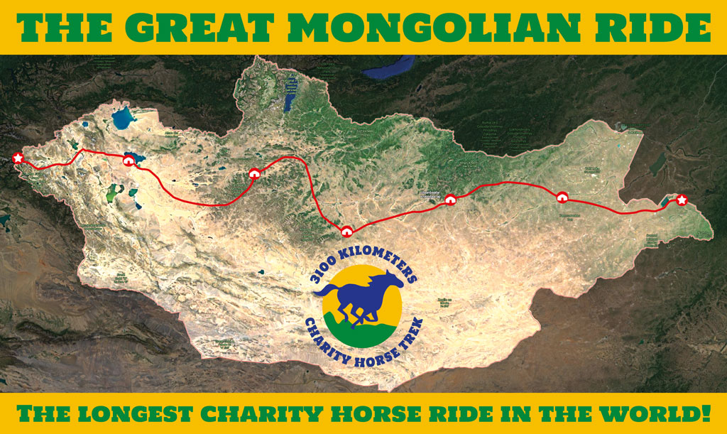 The Great Mongolian Ride 2021 | The longest charity horse ride in the world | Map